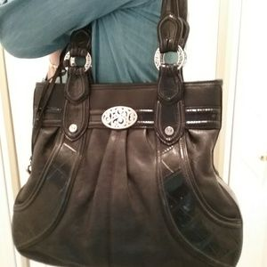 Brighton over the shoulder bag with silver details